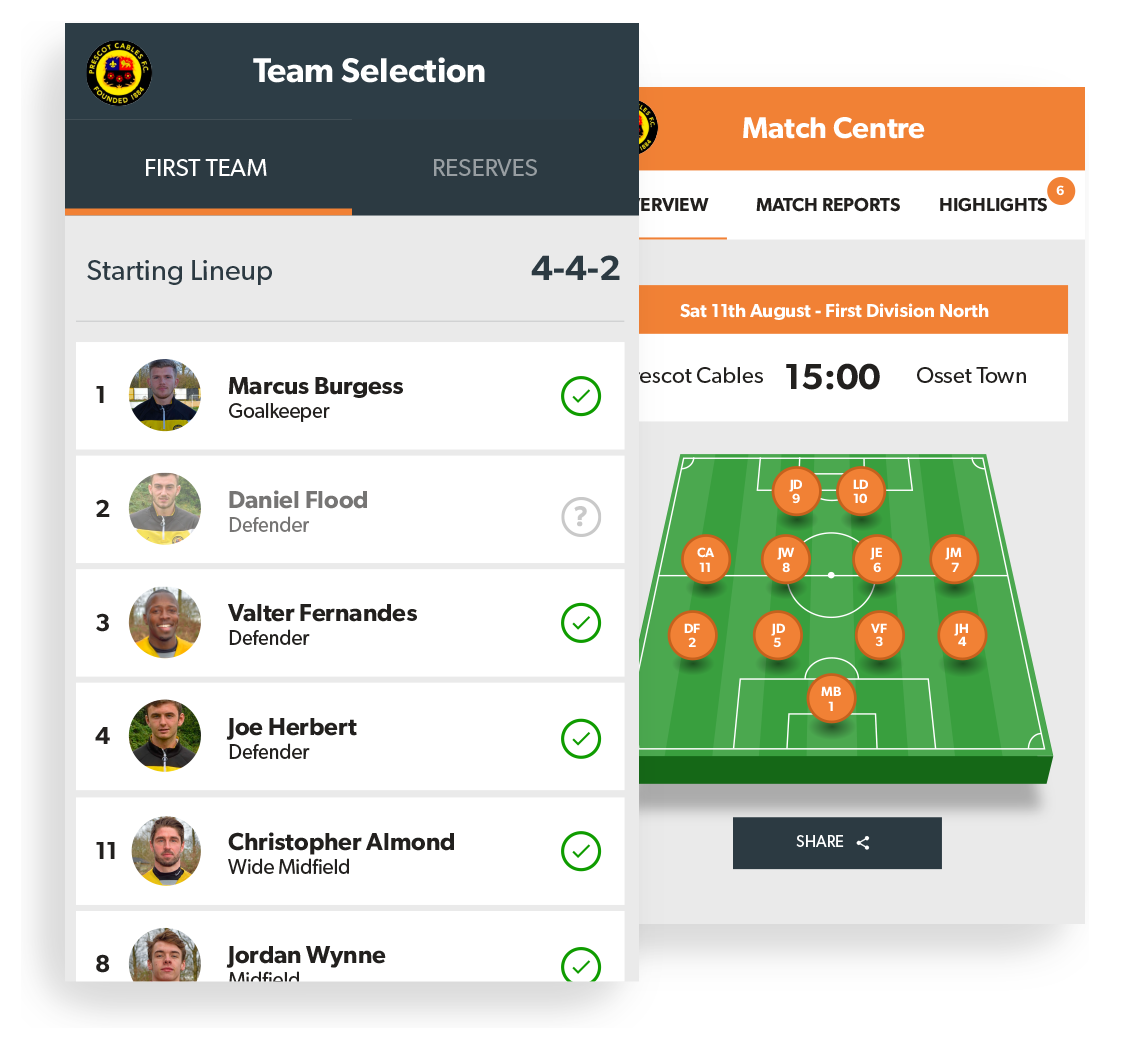 Manager App | Built For Managers & Coaches | Pitchero